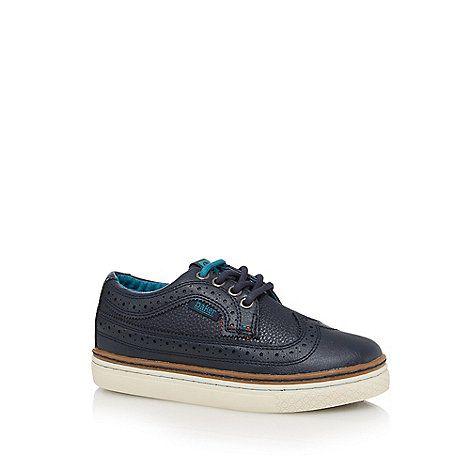 Baker by Ted Baker Boys' navy brogue shoes | Debenhams