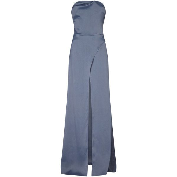 Safiyaa Mira Strapless Draped Jumpsuit (30,125 MXN) ❤ liked on Polyvore featuring jumpsuits, grey, gray jumpsuit, jump suit, overlay jumpsuit, grey jumpsuit and strapless jumpsuit