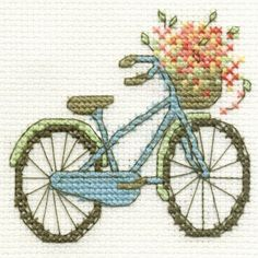 vintage bicycle cross stitch