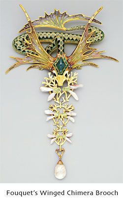 """Fouquet's Winged Chimera Brooch""  Rene Lalique Jewellery"