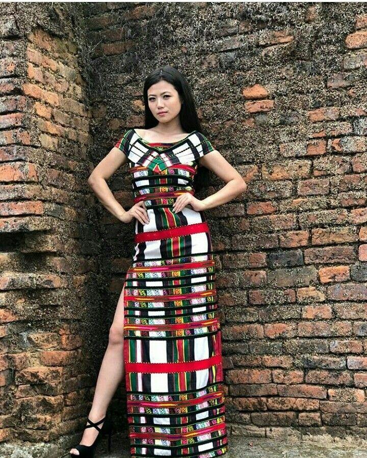 2804e26d04 Miss Arunachal India 2018 wearing Mizo traditional fusion attire.  @osin_mosu 📷@taigungte