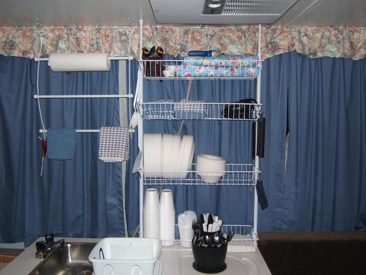 Another idea   storage shelf for pop up camper. 187 best images about Camping   Camper Remodeling Tips on