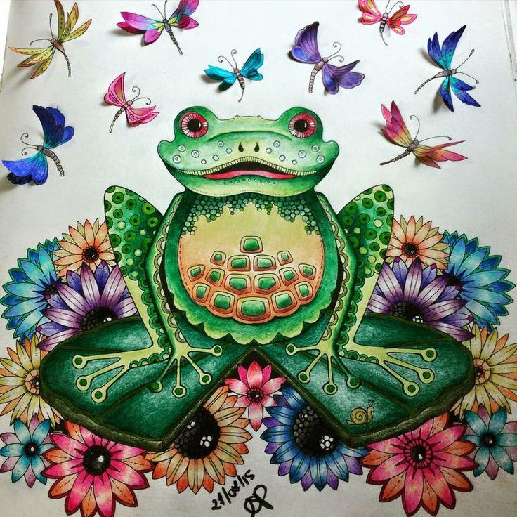 Joanna Basford Johanna Secret Garden Coloring Books Adult Colouring Enchanted Forest Book Gardens Frogs Manual