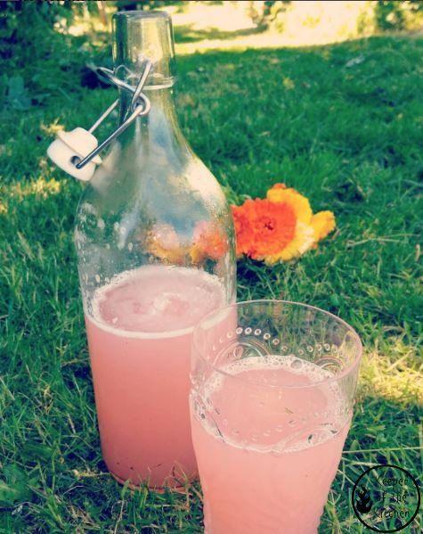 Rhubarb Lemonade - perfect for late season or frozen rhubarb