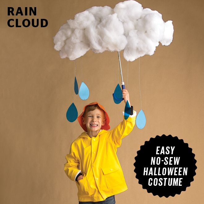 Your kiddo will be a bright ray of sunshine in this adorable rain cloud costume. #Halloween