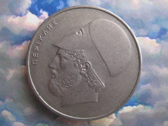 Vintage 1976  Coin Greece 20 Drachmes by StarPower99 on Etsy, $3.00