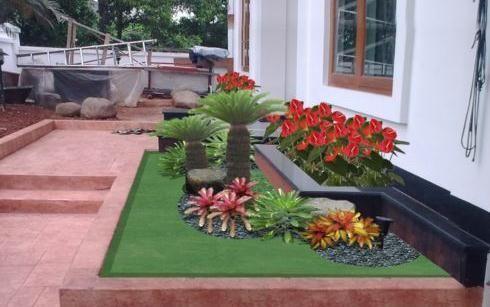 65 Desain Taman Depan Rumah Mungil Minimalis | Desainrumahnya.com