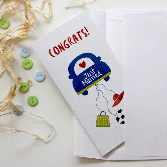 Wedding congratulations card for a football and a shopping lover  | Wedding Card  | Varró Joanna Design | Handmade Wedding | Weddings | Wedding Ideas | DIY | Graphic Design | Inspiration | Graphic Designer