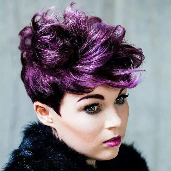 short hair vivid color