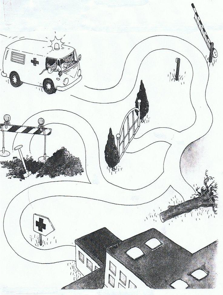 Werkblad ´Hoe komt de ziekenauto bij het ziekenhuis?´