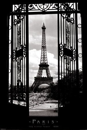 It's been more than a decade since I've seen the Eiffel Tower...Eiffel Tower 1909 Pôsters na AllPosters.com.br