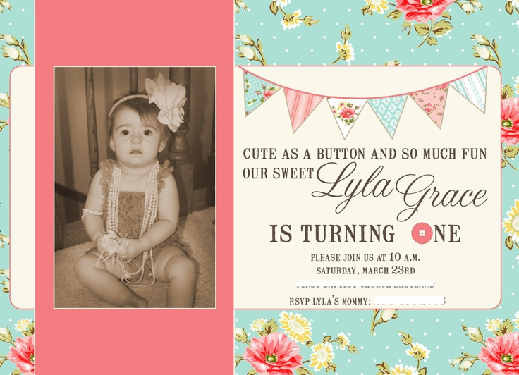 30 Best images about Klairs First Birthday – Baby Birthday Invite