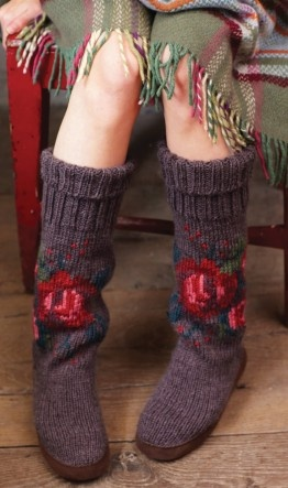 winter slippers. Knitted but beautiful!