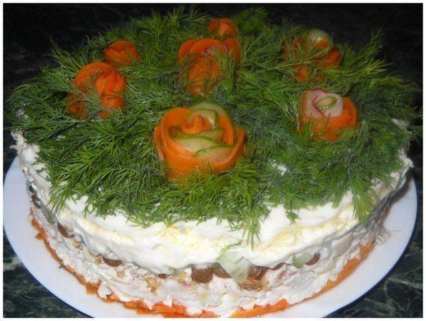 Нашла безумно хорошую подборку салатов, ну и конечно делюсь с вами  Поехали!!!  Сёмга на шубке
