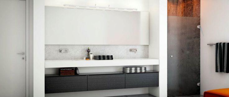 Seven sort eg - et eksklusivt badeværelse i sort eg - HTH