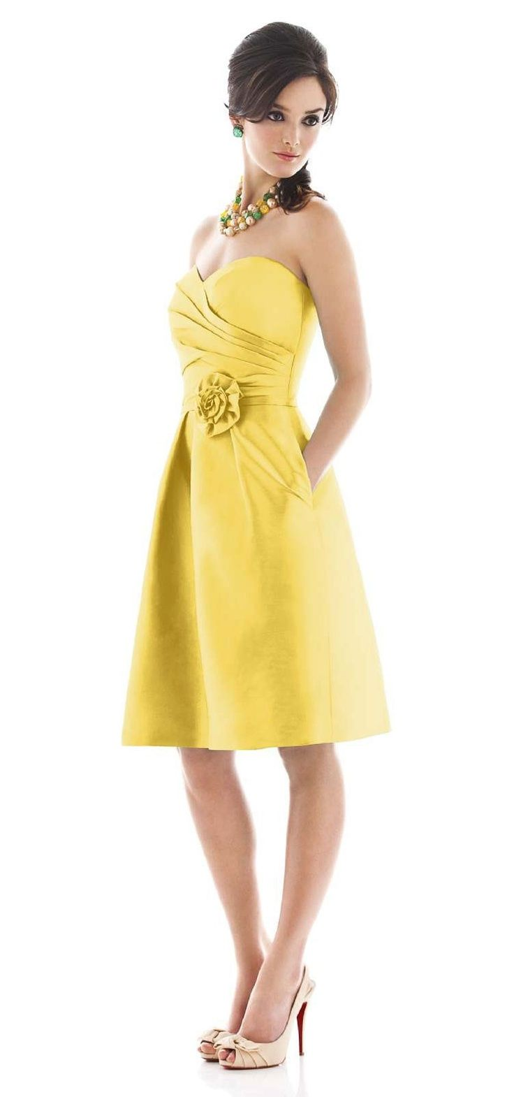 46 best alfred sung images on pinterest alfred sung bridesmaid yellow bridesmaid dress dessy alfred sung ombrellifo Image collections