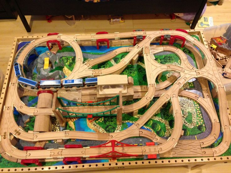 8 Best Images About Wooden Train Set Layouts On Pinterest