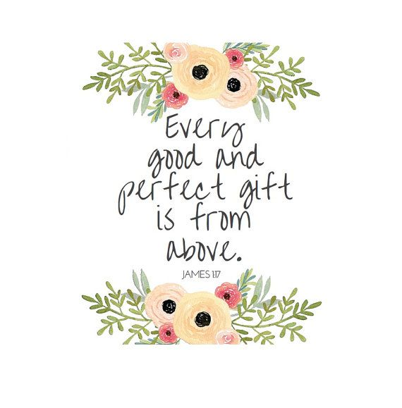 James 1 17 Print Every Good and Perfect Gift is by DowntownParty