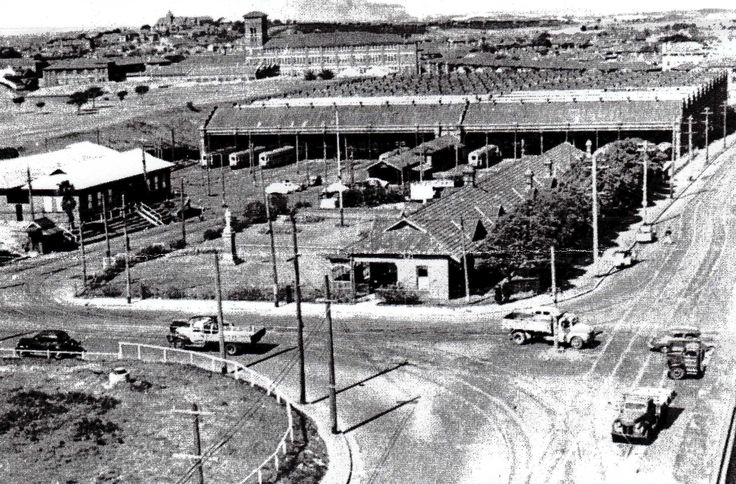 Dowling Street Tram Depot. Waterloo. 1948