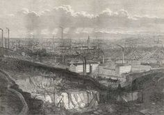 Many children worked in factories in Britain's fast-growing industrial towns. This is Bradford, Yorkshire, in 1873---[only 30 miles and 139 years from Boroughbridge]