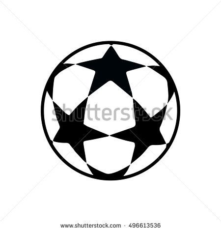 soccer ball football match stars icon champions sign tag league finale 2016 17 isolated