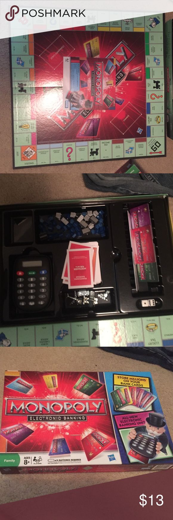 Monopoly electronic banking 6 bank cards a banking unit and its in good condition Monopoly Other