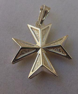 SALE! Sterling Silver Maltese Cross Pendant Order of St John Knights of Malta