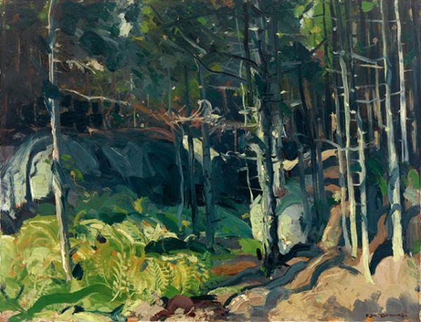 George Bellows Fern Woods oil on board 1913