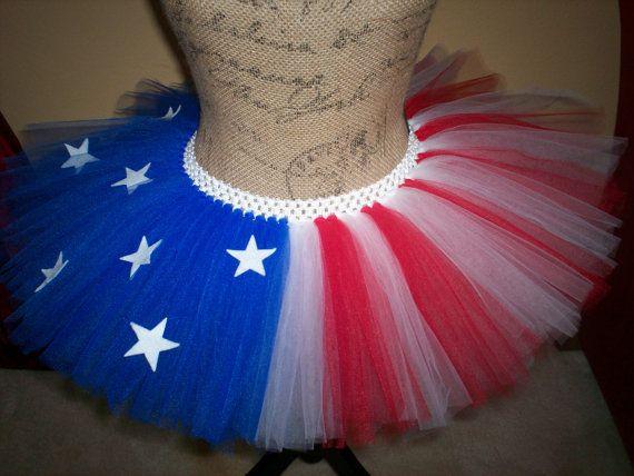 4th of July / Captain America Inspired Running Tutu by Tutu-da-loo on Etsy, http://www.etsy.com/shop/tutudalooo