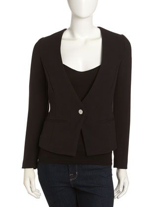Collarless One-Button Jacket, Black by MICHAEL Michael Kors at Neiman Marcus Last Call. $59.40  Got it for even less with lcnew ($10 off) coupon code.