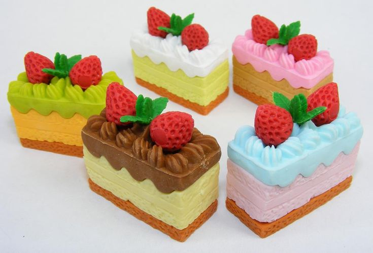 Cake Erasers Available in assorted Colours