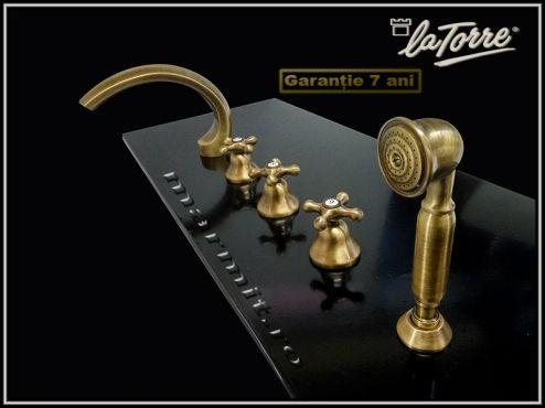 Baterie pe cada retro finisaj bronz   Marmit - Obiecte sanitare