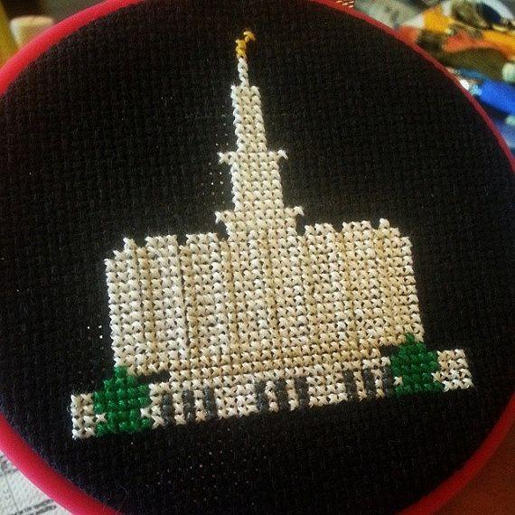 LDS Provo Temple Pattern  Cross Stitch Pattern by ArmadaDesigns