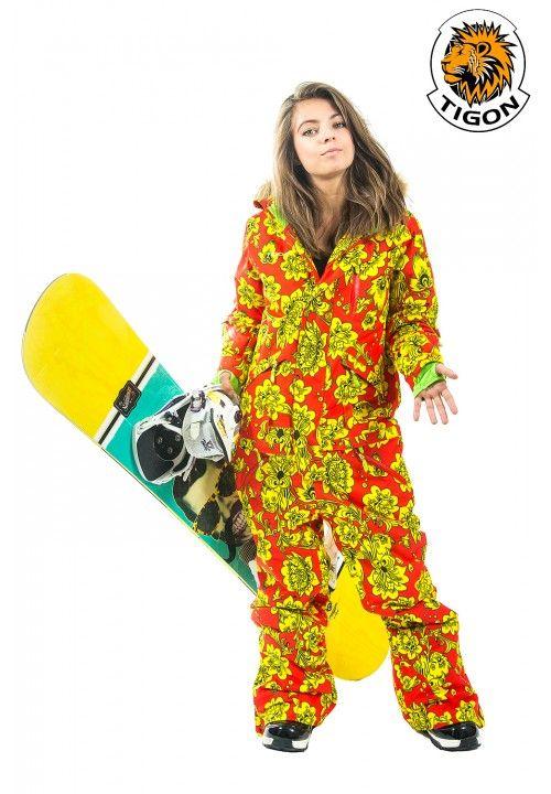 Women one piese ski suit tigon hohloma   one piece ski suits for ... 44449fee149