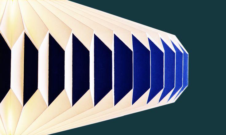 Colourful paper lamp shades - akura origami lampshade