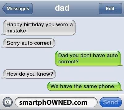 Auto Correct Text Fails
