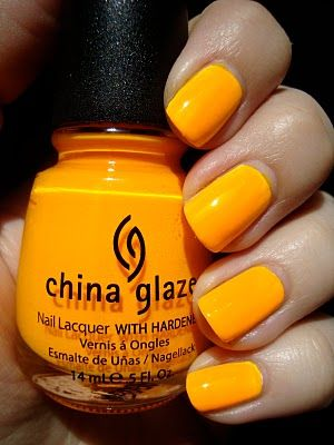 """China Glaze """"Sun Worshipper""""  Talk about a summer polish!"""