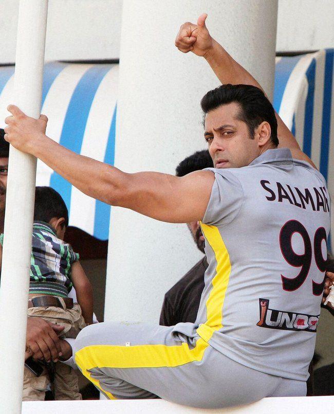 Haha. Salman Khan. In his jersey.