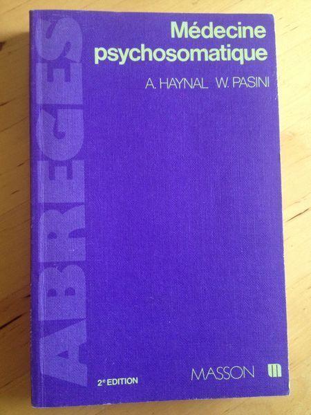 #médecine : Médecine Psychosomatique - A. Haynal et W. Pasini. 2è édition revue et corrigée, Masson, 1984. 332 pp. brochées.
