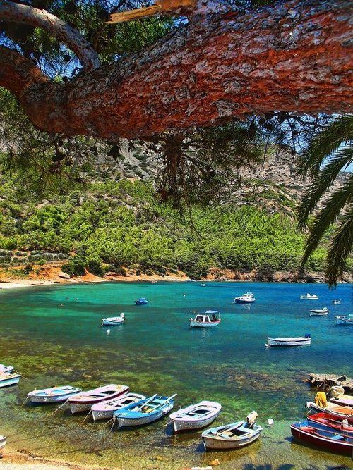 Myrtia Beach in  Samos island #Greece
