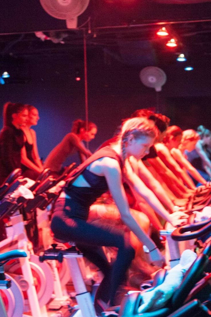 """I Brought 12 of My Friends to a Swerve Fitness Class""- ""Being a glutton for new fitness experiences, I reached out to my go-to workout buddies to see if they'd join me in trying Swerve Fitness, a new cycling class that combines team spirit and a healthy dose of competition."""