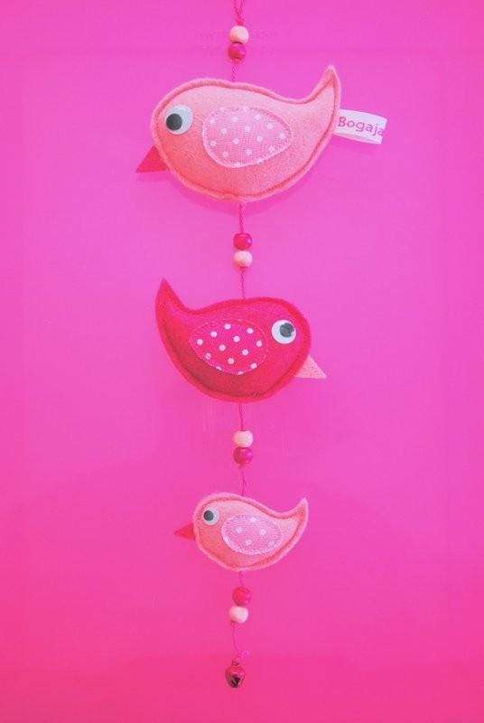 vogelslingertje roze / pink