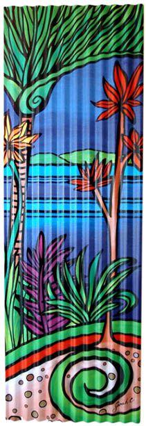 Paint corrugated metal - vertical