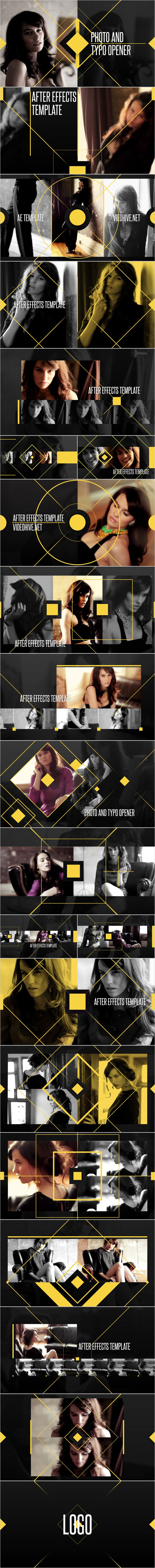 After Effects Project Files - Photo and Typo Opener | VideoHive
