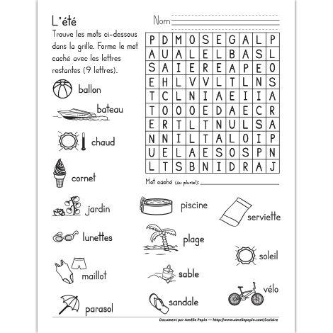 Fichier PDF téléchargeable En noir et blanc 1 page Ce mot caché illustré est un bon moyen d'apprendre du vocabulaire tout en s'amusant. Le mot à trouver est: papillons.