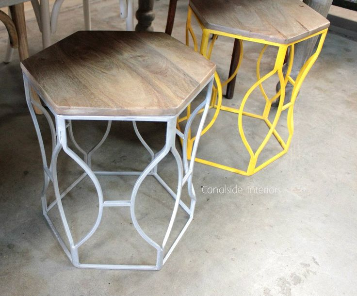 Braxton Side Table / Stool - Distressed Silver - Canalside Interiors