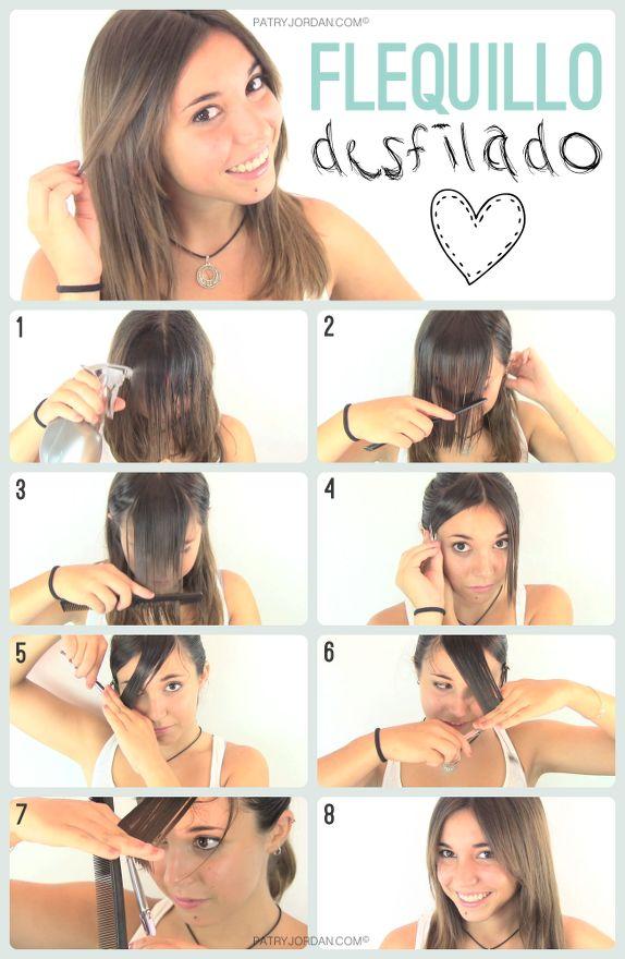 DIY: Como cortar el flequillo desfilado fácilmente. Hazlo tu misma siguiendo los pasos de este tutorial. En unos minutos podrás lucir un nuevo peinado.