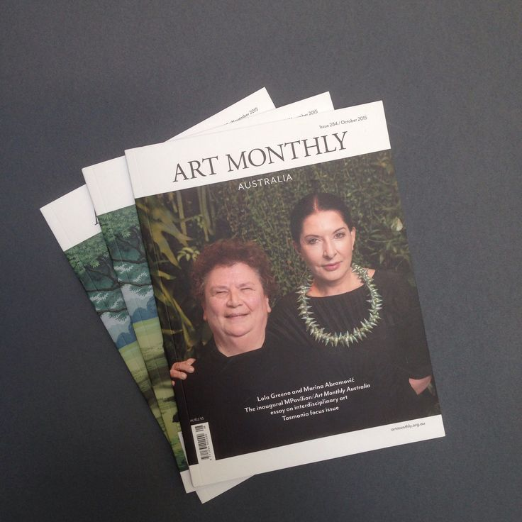 Art Monthly Australia Journal - October issue, redesigned in September 2015