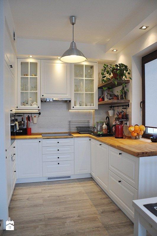 projekt 3 - Średnia otwarta kuchnia w kształcie litery u, styl skandynawski - zdjęcie od Project Art Joanna Lipowska