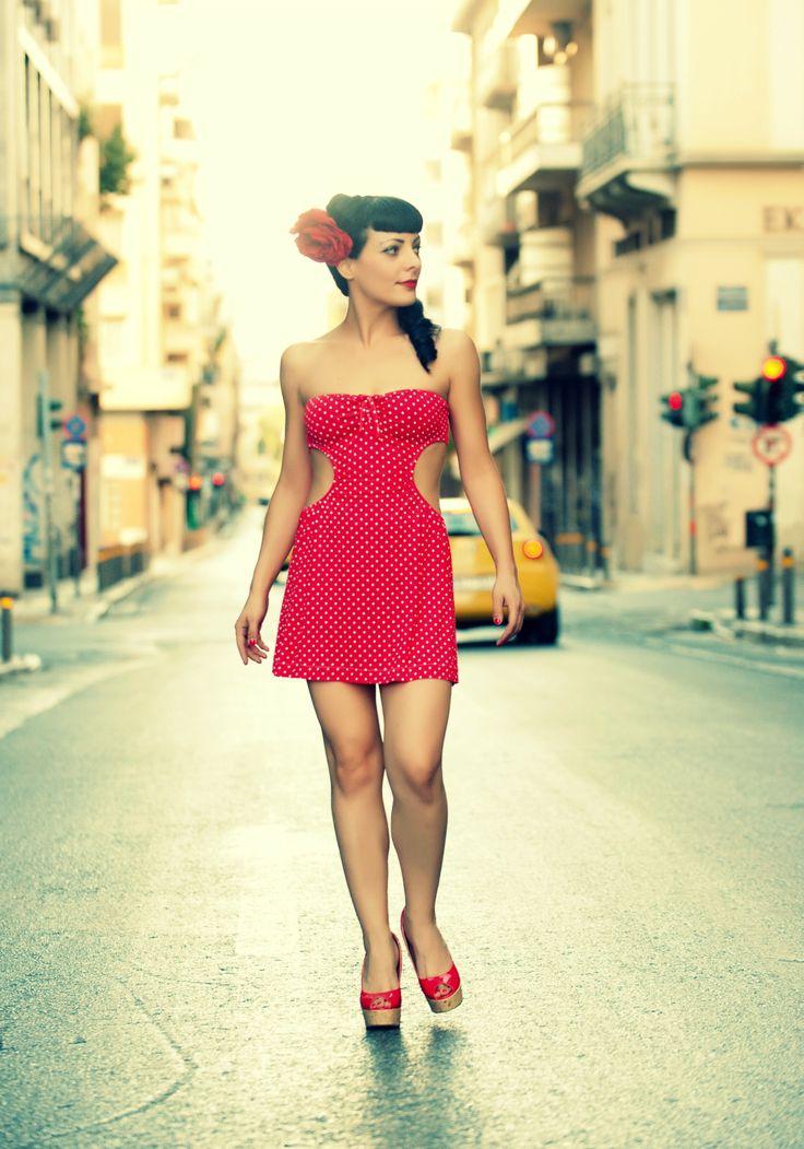 Alexandra Kladi posing for Theofilos Venardos